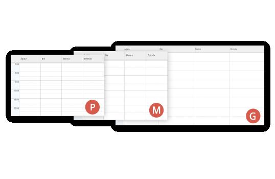 Diferentes forma de visualizar a agenda do salão