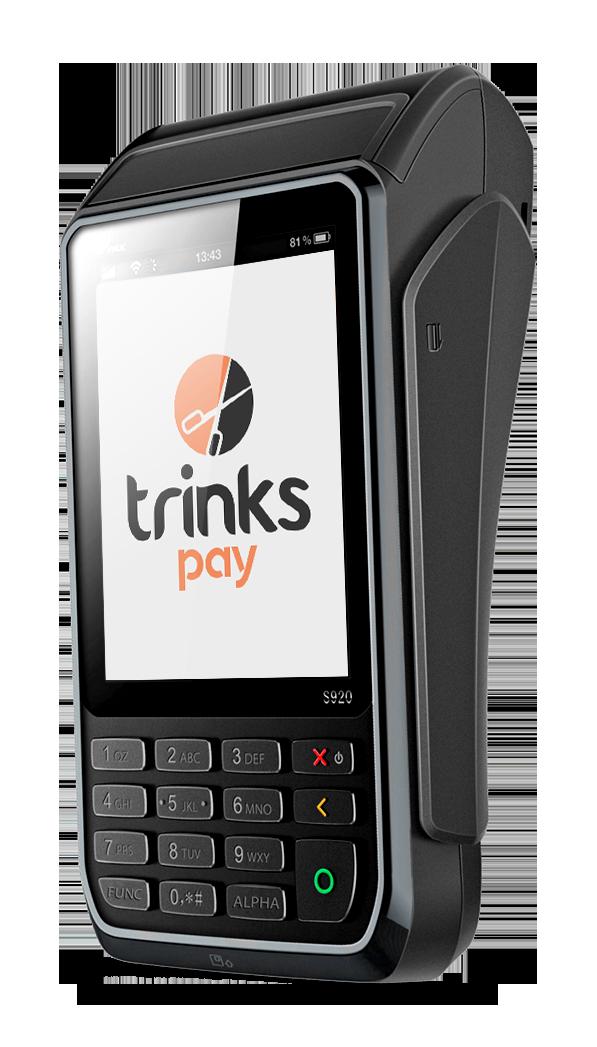 Trinks Pay máquininha de cartão do Trinks